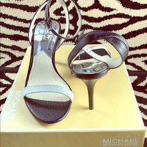 Michael Kors Bridget ankle strap stilettos 8